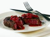 Grilled Rib Eye with Tomato and Poblano Chile Sauce