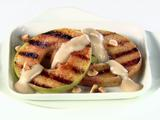 Grilled Apple Slices with Caramel-Mascarpone Cream (Pacific Northwest)