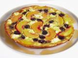 Frittata with Peaches and Cherries
