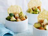 Shrimp and Avocado Salad with Frico Chips