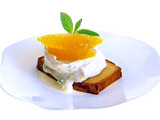 Toasted Pound Cake with Citrus Cream