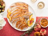 Roasted Turkey Breast with Peach Rosemary Glaze