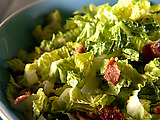 Wilted Greens with Bacon Vinaigrette