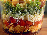 Shredded Tex-Mex Salad with Creamy Lime Dressing