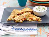 Southwest Quesadilla with Cilantro-Lime Sour Cream
