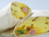 Online Round 2 Recipe - Ham and Cheese Breakfast Burrito
