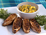 Southwestern Chicken with Mango-Peach Salsa