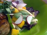 Mango, Jicama and Radish Salad with Peanut Dressing