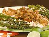 Mojito Chicken and Roasted Asparagus with Almonds
