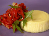 Parmigiano Sformato with Piquillo Peppers and Almonds