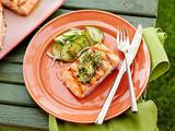 Grilled Salmon with Herb and Meyer Lemon Compound Butter