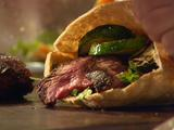 Flank Steak and Grilled Veggie Pita