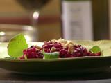 Roasted Beet Salad with Pears and Marcona Almonds