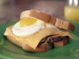 Fried Scrapple and Egg Sandwich