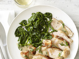 Pork Marsala With Spinach