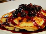 Hotcakes with Delicious Blueberry Compote