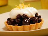 Blueberry Pie with Chantilly Cream