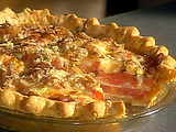 Cheesy Vidalia Onion and Tomato Pie