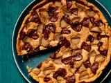 Pear-Walnut Chocolate Tart