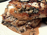 Roasted Chicken with Truffle Sauce