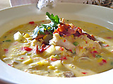 Creamy Spicy Corn Chowder with Chicken