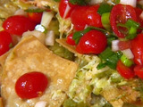 Roasted Chicken Nachos With Green Chili-Cheese Sauce