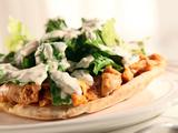 Round 2 Recipe - Pita Pile On with Spicy Yogurt Sauce