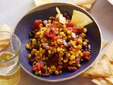 Grilled Corn and Bean Salsa with Baked Corn Chips