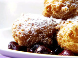 Italian Donuts with Cherry Sauce
