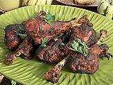 Sherry Vinegar-Brown Sugar Glazed Turkey Drumsticks