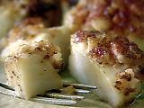 Seared Diver Scallops with Bacon and Whole Grain Mustard Rub