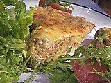 Caramelized Onion, Mushroom and Bacon Quiche in a Pat-In-Pan Crust