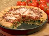 Deep-Dish Pizza with Italian Sausage and Broccoli Rabe