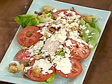 Kicked Up BLT Chicken Salads with Blue Cheese