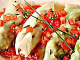 Stuffed Cabbage with Crab and Mint