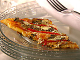 Red Pepper and Tapenade Slices