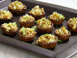 Ginger Rice Stuffed Mushrooms
