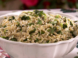 Spinach and Basil Orzo