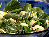 Spinach and Lychee Salad