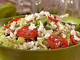 Chicken Chopped Mediterranean Salad with Feta Vinaigrette