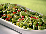 Garlicky Green Beans and Peas