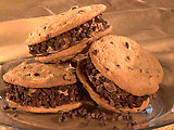 Triple Chocolate Chip Ice Cream Sandwiches