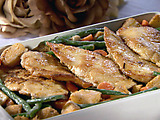 Chicken Scaloppini with Spring Vegetables