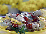 Lemon Swordfish Brochettes