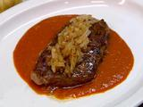 Seared Rib Eye, Tomato Pan Sauce