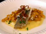 Pan Seared Bronzino with Mushroom Pan Jus