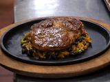 Seared Rib Eye, Salsa Verde, Dirty Rice