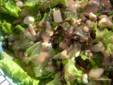 Green Salad with Roasted Pears and Blue Cheese