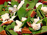 Spinach Salad with Cranberries, Pecans, Bacon, and Blue Cheese