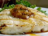 Grilled Halibut with BBQ Butter